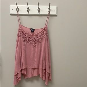 Rose colored tank top